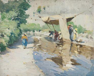 Mabel Woodward, 'Wash Day, Italy'
