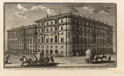 Giuseppe Vasi, 'Prospetto verso Mezzo giorno del Collegio di Propaganda Fide, e fianco verso ponente, architettura del Boromini', 1747-1801