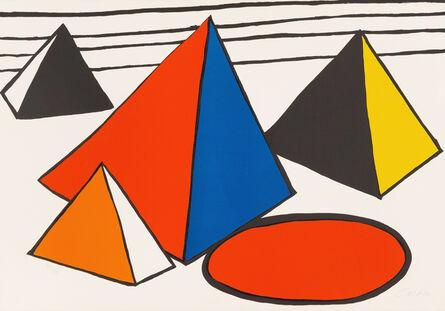 Alexander Calder, 'Four Pyramids', ca. 1970