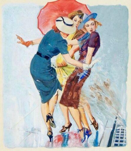 John Lagatta, 'Women on a Rainy Day, Saturday Evening Post Cover, May 1939', 1939