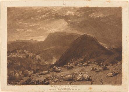 Joseph Mallord William Turner and Robert Dunkarton, 'Hind Head Hill', published 1811