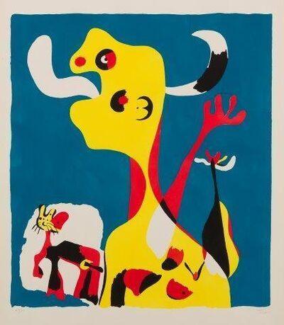 Joan Miró, 'Femme et Chien devant la Lune [Dupin 18]', 1935