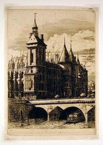 Charles Meryon, 'La Tour de L'Horloge (The Clock Tower, Paris)', 1852