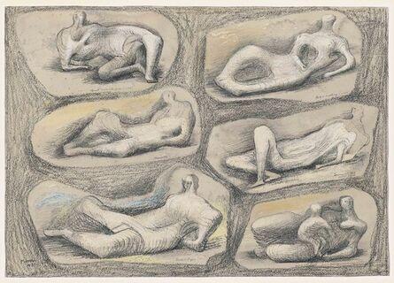 Henry Moore, 'Reclining Figures', 1943