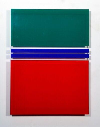 Waldo Balart, '2 líneas azules', 1981