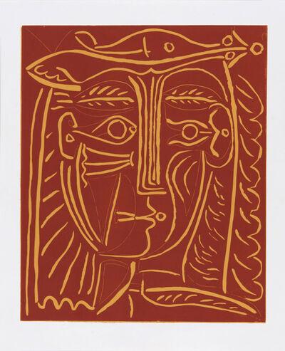 Pablo Picasso, ' Tête de Femme au Chapeau', 1962