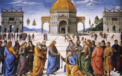 Pietro Perugino, 'Delivery of the Keys to Saint Peter', 1481
