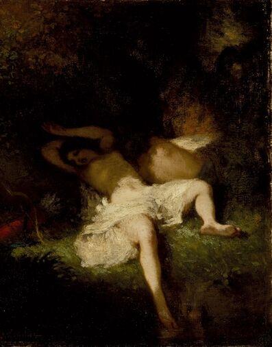 Jean-François Millet, 'Diana Resting', ca. 1845