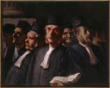 Honoré Daumier, 'Les Avocats (The Lawyers)', ca. 1860