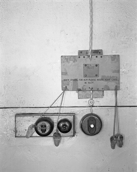 """David Goldblatt, 'Call system used by officials at a mine office when they wanted the service of """"the boy"""". Consolidated Main Reef Gold Mine, October 1967', 1967"""