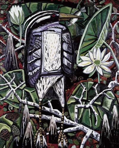 David Bates (b. 1952), 'Night Heron', 1986-1987