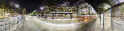 Tori Foster and Jesse Jackson, 'Eight Streetcar Shelters (Night), Spadina   Avenue', 2013