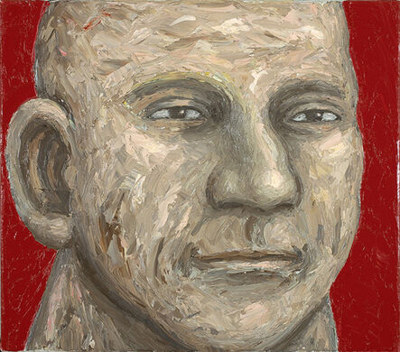 Peter Booth, 'Painting (Head, red background)', 2010