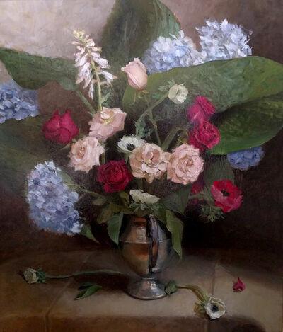 Judith Pond Kudlow, 'Anemone, Hosta, Rose'