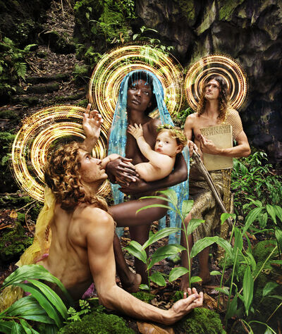 David LaChapelle, 'The Holy Family with St. Francis', 2019