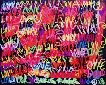 CHRIS RIGGS, 'Love Canvas 1', 2018