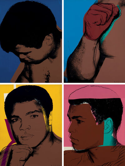 Andy Warhol, 'Muhammad Ali complete portfolio consisting of four hand signed artworks F&S II.179-182', 1978
