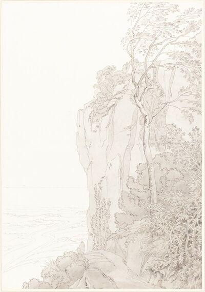 John White Abbott, 'Sheer Cliffs above a Coastal Road', 1810