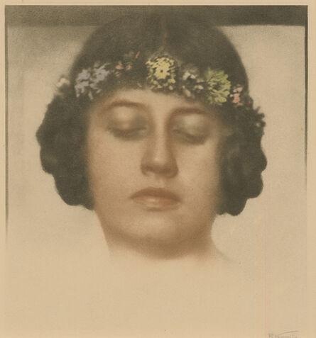 Rudolf Koppitz, 'Untitled (Maedchen mit Kranz)', ca. 1920