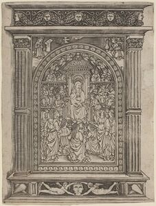 after Maso Finiguerra, 'The Virgin and Child Enthroned, with Angels and Saints', 1450/1470