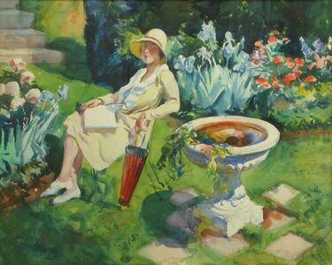 Aiden Lassell Ripley, 'Lady in the Courtyard', 1930