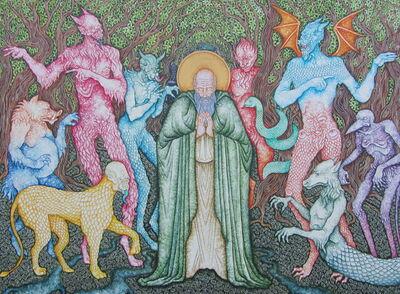 Joe Machine, 'Saint Guthlac assailed by The Demons', 2020