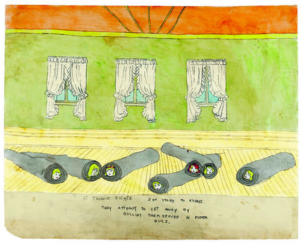Henry Darger, 'At Jennie Richie are rescued by Evans', 1910-1970