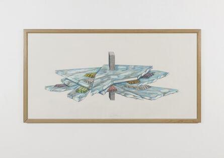 Ger van Elk, 'Forest Pressure Drawing', 1990