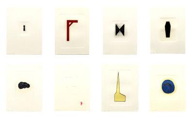 Robert Therrien, 'Hand Colored Prints [Set of Eight Prints]', 1988-1995