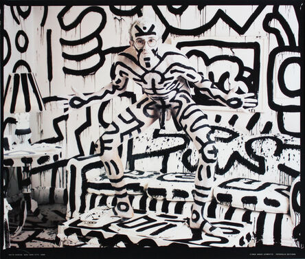 Annie Leibovitz, 'Keith Haring Photographed by Annie Leibovitz poster', 1992