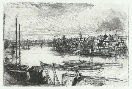 Francis Seymour Haden, 'Battersea Reach', 1863