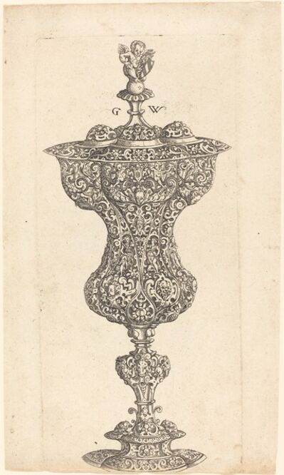 Georg Wechter I, 'Goblet with Putto on lid', published 1579
