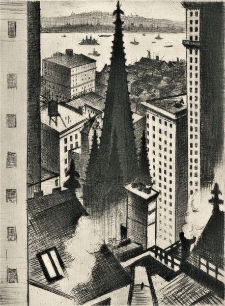 Christopher Richard Wynne Nevinson, 'Temples of New York', 1919