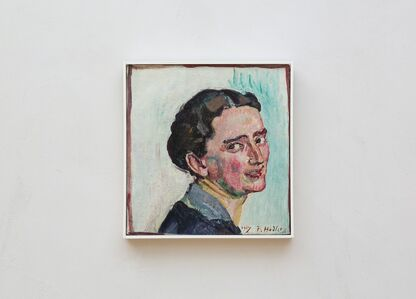 Ferdinand Hodler, 'Bildnis Albertine Bernard', 1917