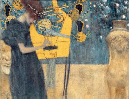 Gustav Klimt, 'Music (study)', 1895
