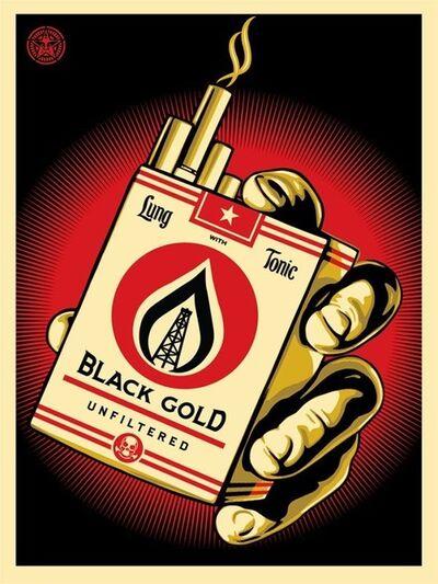 Shepard Fairey, 'Black Gold', 2015