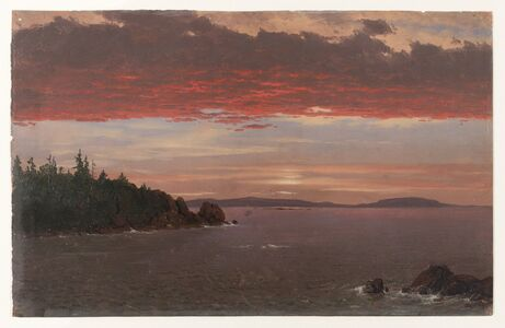 Frederic Edwin Church, 'Schoodic Peninsula from Mount Desert at Sunrise', 1850