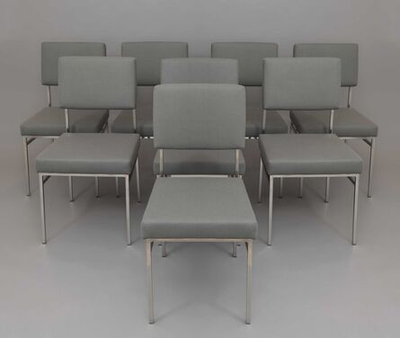 Antoine Philippon and Jacqueline Lecoq, 'Set of 8 chairs P60', 1958/1960