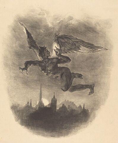 Eugène Delacroix, 'Mephistopheles in the Air', 1828