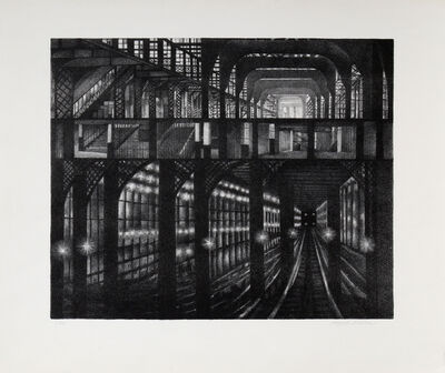 August Mosca, 'Subway Station', ca. 1950