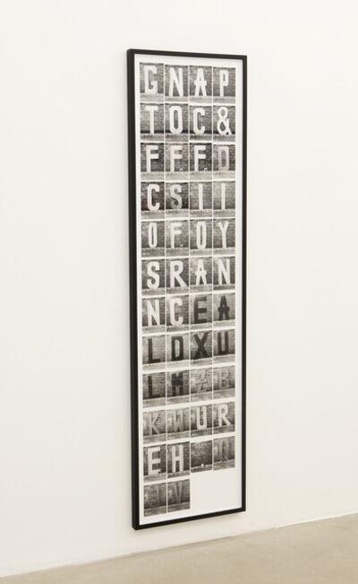 Shannon Ebner, 'Subject Lost', 2013