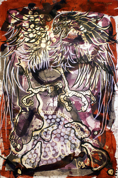 Lucio Santiago, ' Quetzalcóatl, El Origen Inerte 4', 2016