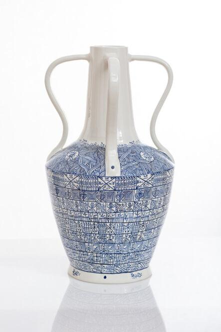 Rachid Koraïchi, 'From the series Lachrymatoires Bleues - Blue Lachrymatory Vases (iii)', 2020