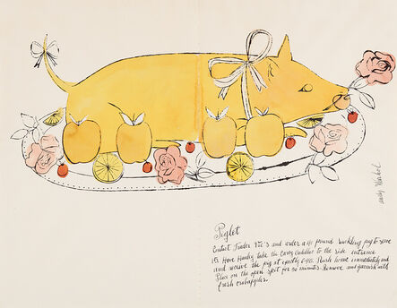 Andy Warhol, 'Piglet from the series Wild Raspberries', 1959
