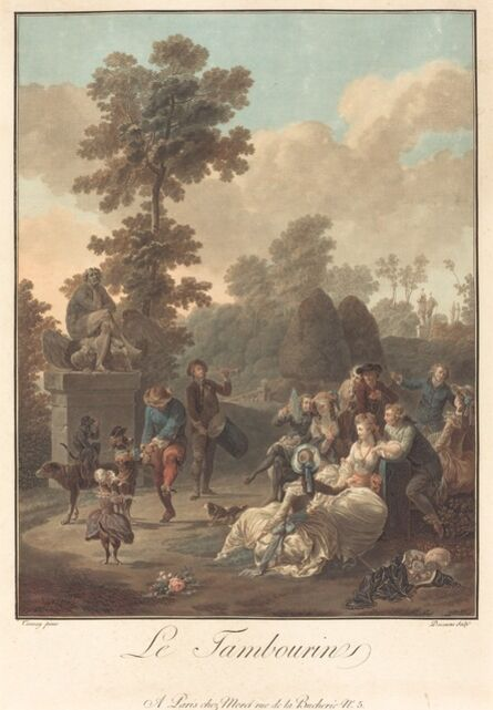 Charles-Melchior Descourtis after Nicolas Antoine Taunay, 'Le Tambourin', ca. 1789