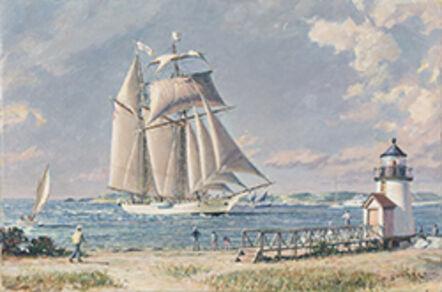 "John Stobart, 'Nantucket Arrival -""Shenandoah"" Off Brant Point', 2016"