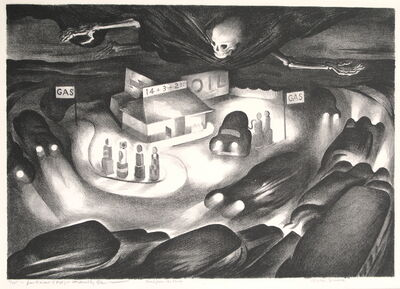 """Benton Spruance, '""""Road from the Shore""""', 1936"""