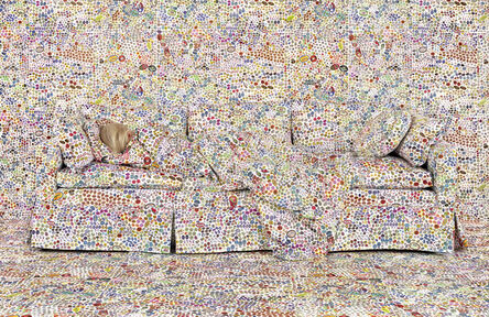 Rachel Perry, 'Lost in My Life (Fruit Stickers Reclining)', 2018