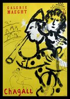 Marc Chagall, 'The musician clown Galerie Maeght, 1957 - Original lithographic poster', 1957