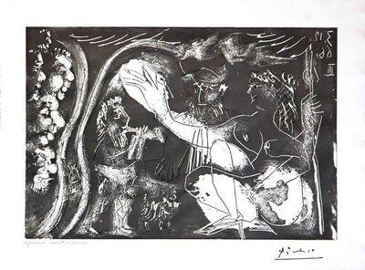 Pablo Picasso, 'Au Theatre: Couple Avec un Flutiste et un Petit Chien, from the 60 Series', 1966